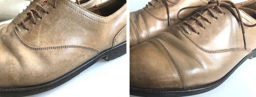 Oprava poškozených pánských kožených bot