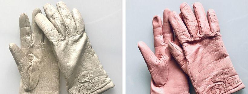 Přebarvení zimních kožených rukavic na výraznější barvu