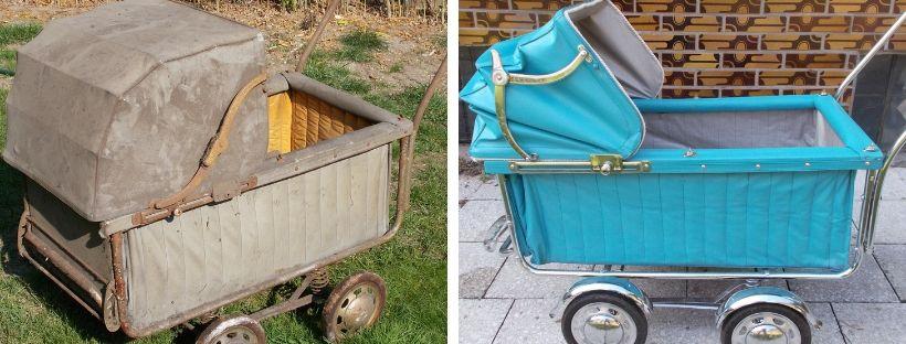 Renovace dětského starožitného kočárku
