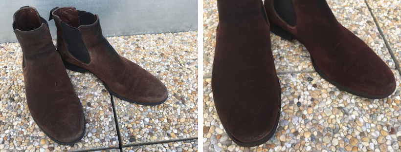 Renovace hnědých semišových bot a oživení jejich barvy