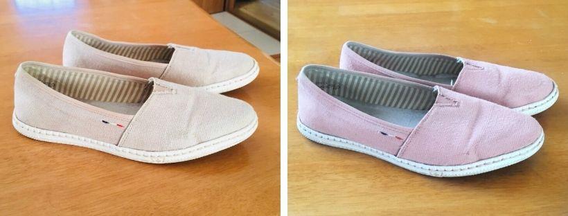Barvení bot = Jarní tenisky opět krásně růžové