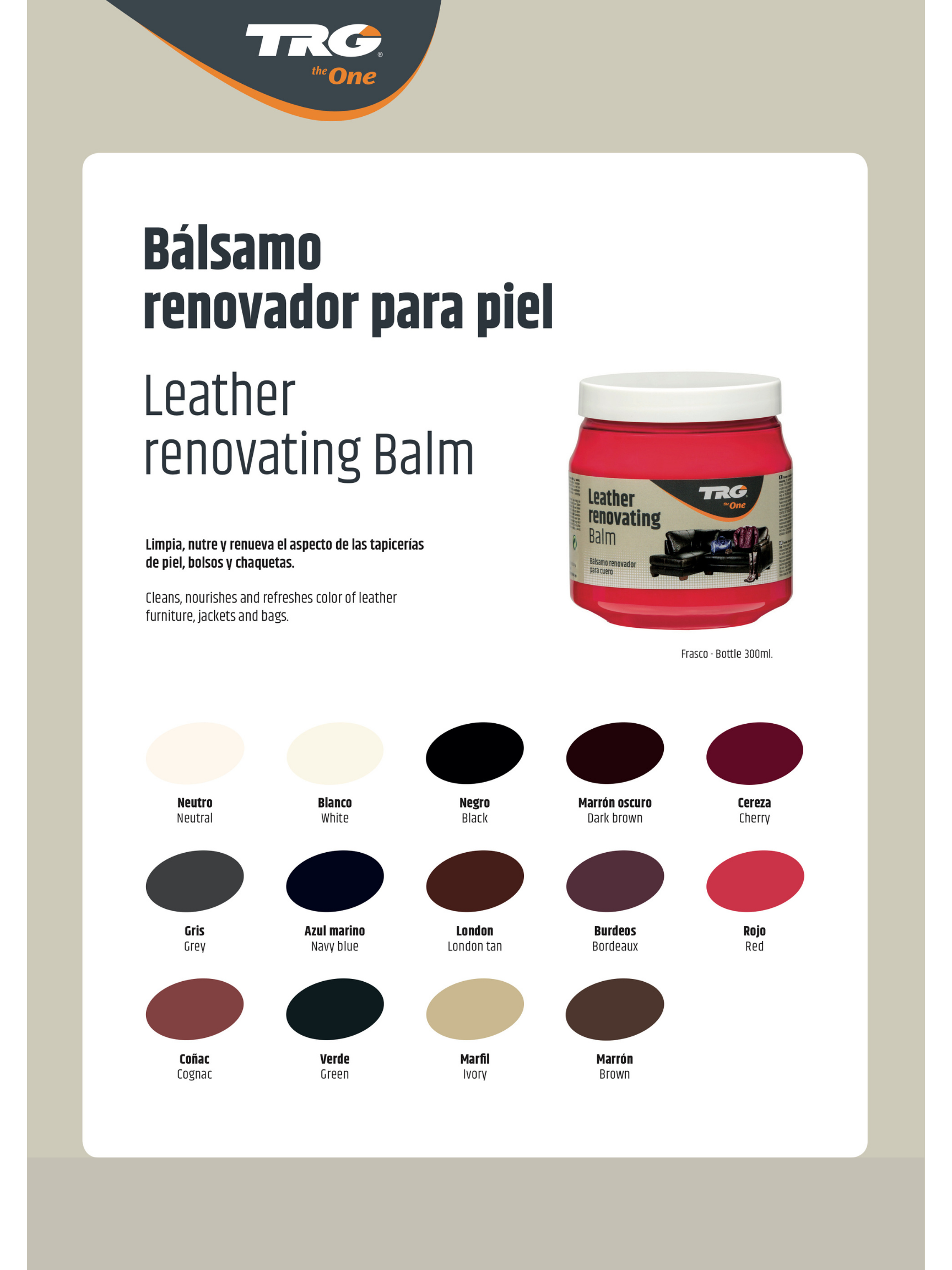 Leather Renovating Balm TRG the One VZORNÍK 2021