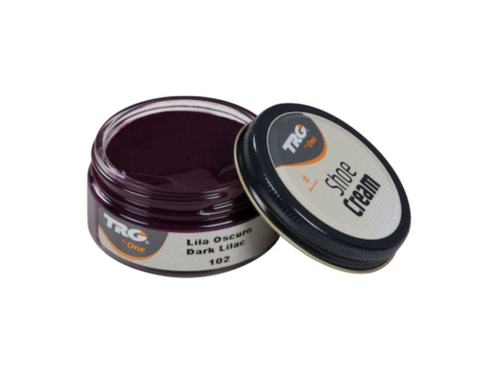 Fialový Krém na boty Shoe Cream TRG Dark Lilac 102