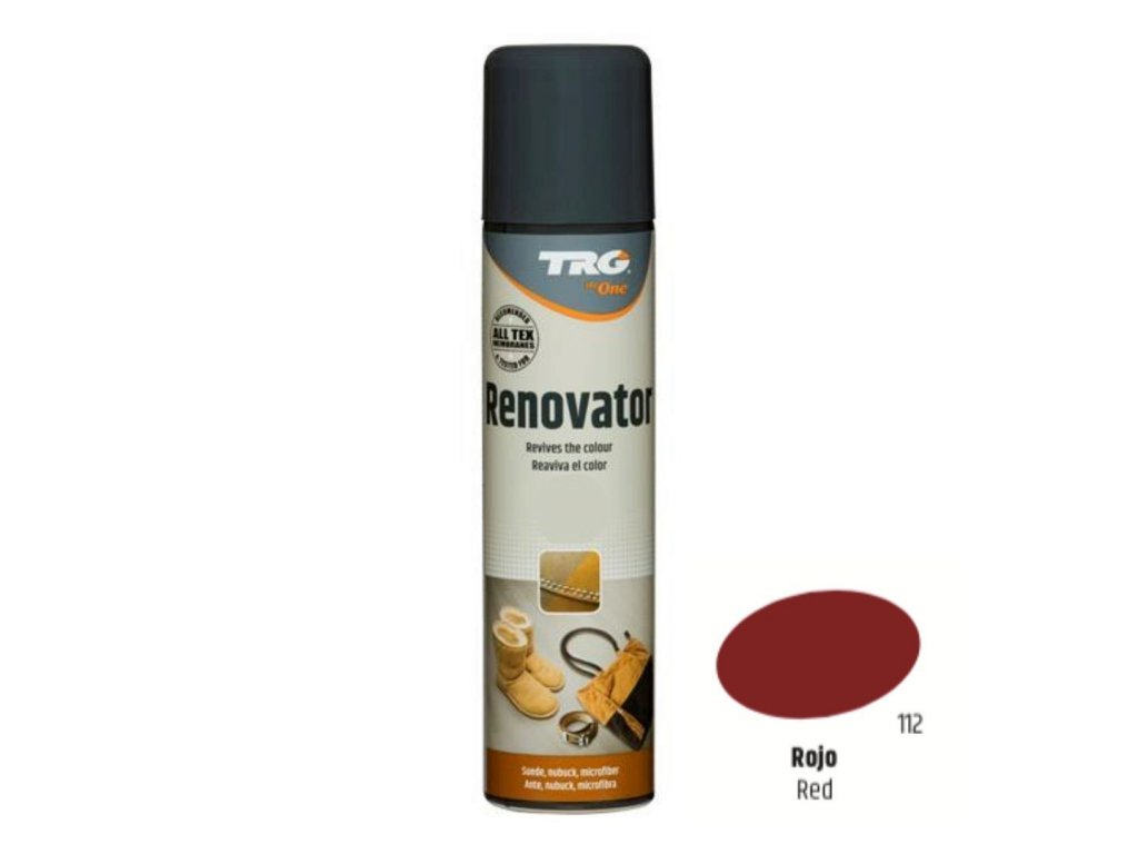 Červený Sprej na semiš Suede Renovator TRG Red 112 cerveny sprej na semis