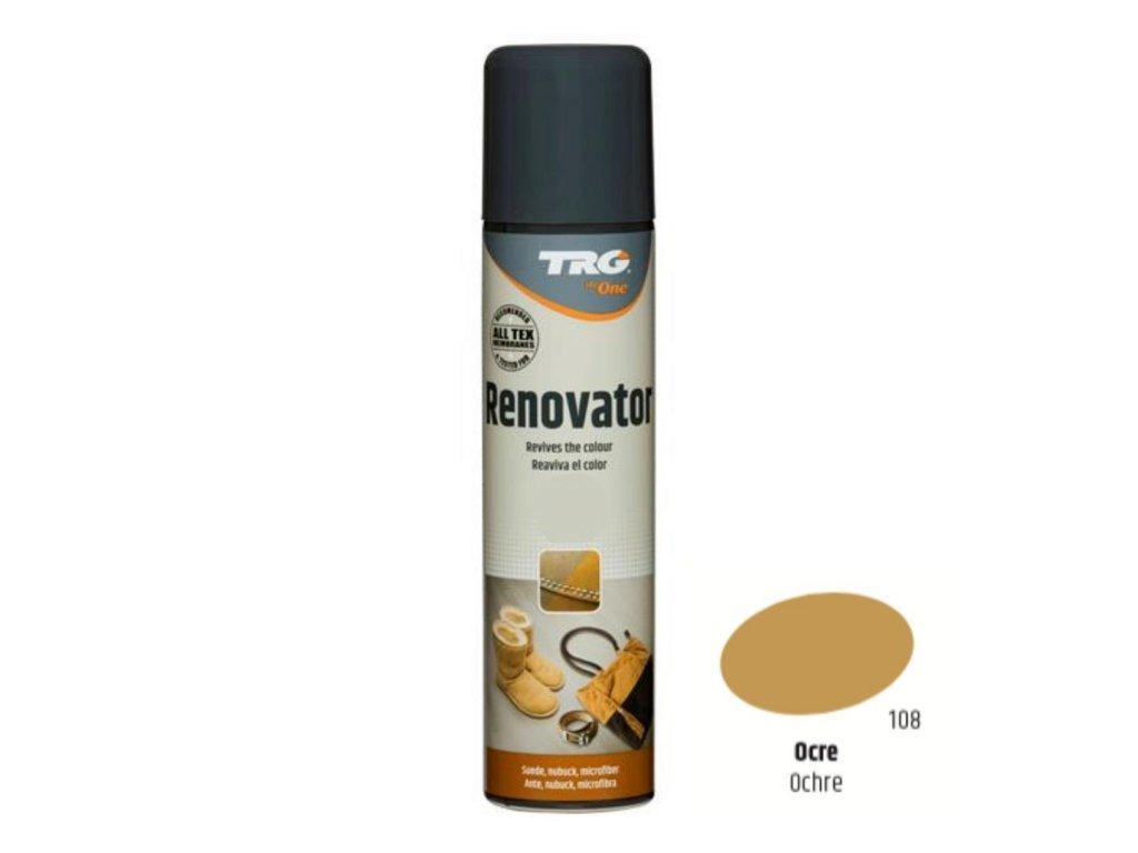 Béžový Sprej na semiš Suede Renovator TRG Ochre 108 bezovy sprej na semis