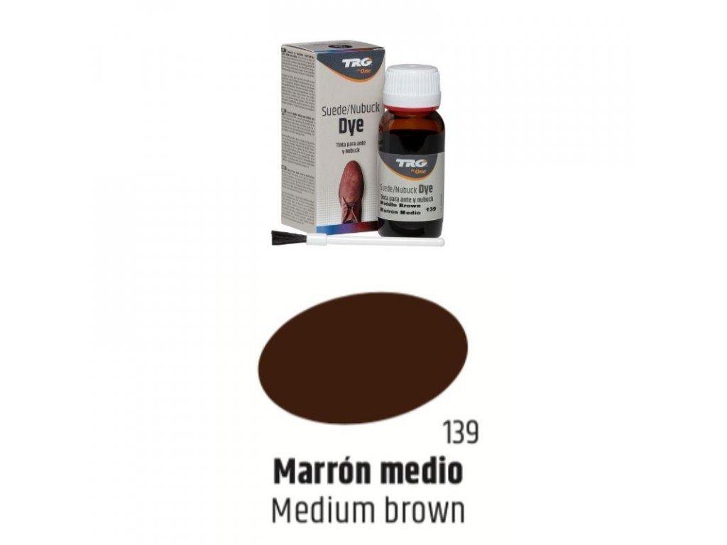 Hnědá Barva na semiš Suede:Nubuck Dye TRG Medium Brown 139 hneda barva na semis suede dye trg the one boty jako nove