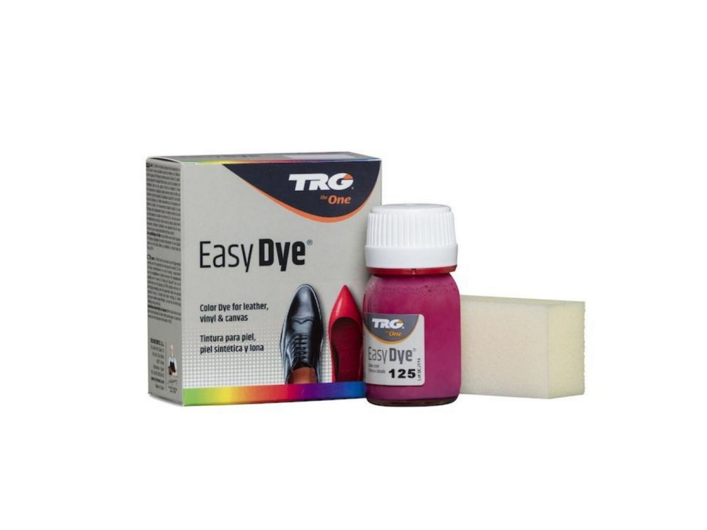 Růžová Barva na kůži Easy Dye TRG Fuchsia 125 fuchsiove ruzova barva na boty trgtheone boty jako nove barveni bot