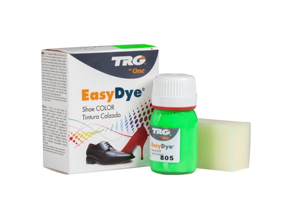 Zelená Barva na kůži Easy Dye TRG Neon 805 neonova barva na boty