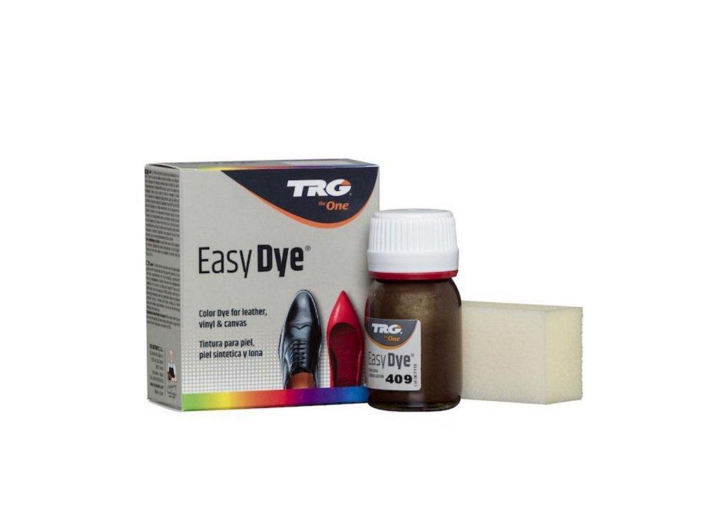Bronzová Barva na kůži Easy Dye TRG Bronze 409 bronzova barva na boty trpytiva kovova metalicka