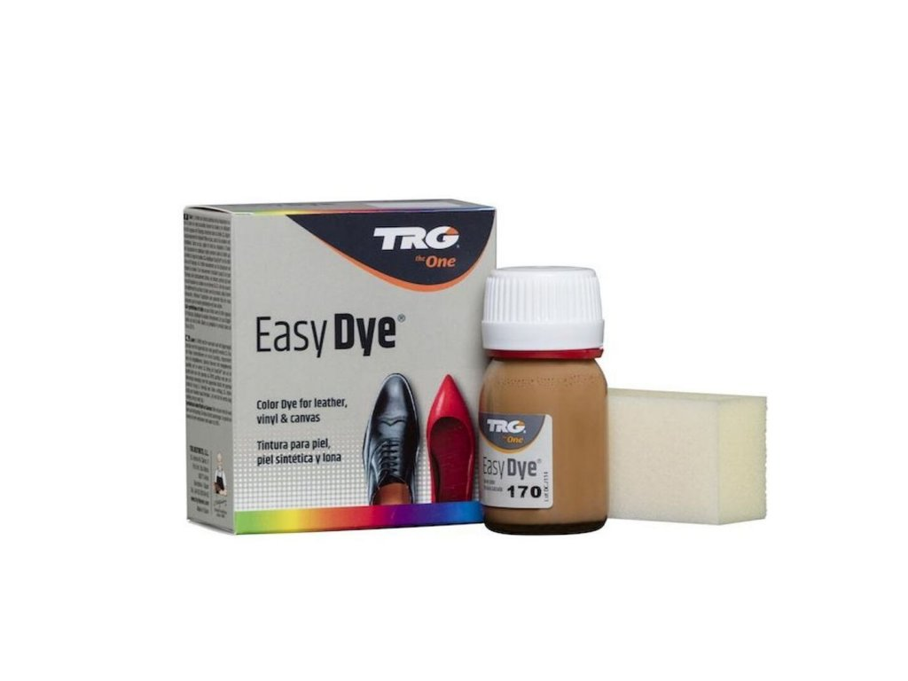 Hnědá Barva na kůži Easy Dye TRG Sand 170 piskove hneda barva na boty kozenou obuv barveni bot