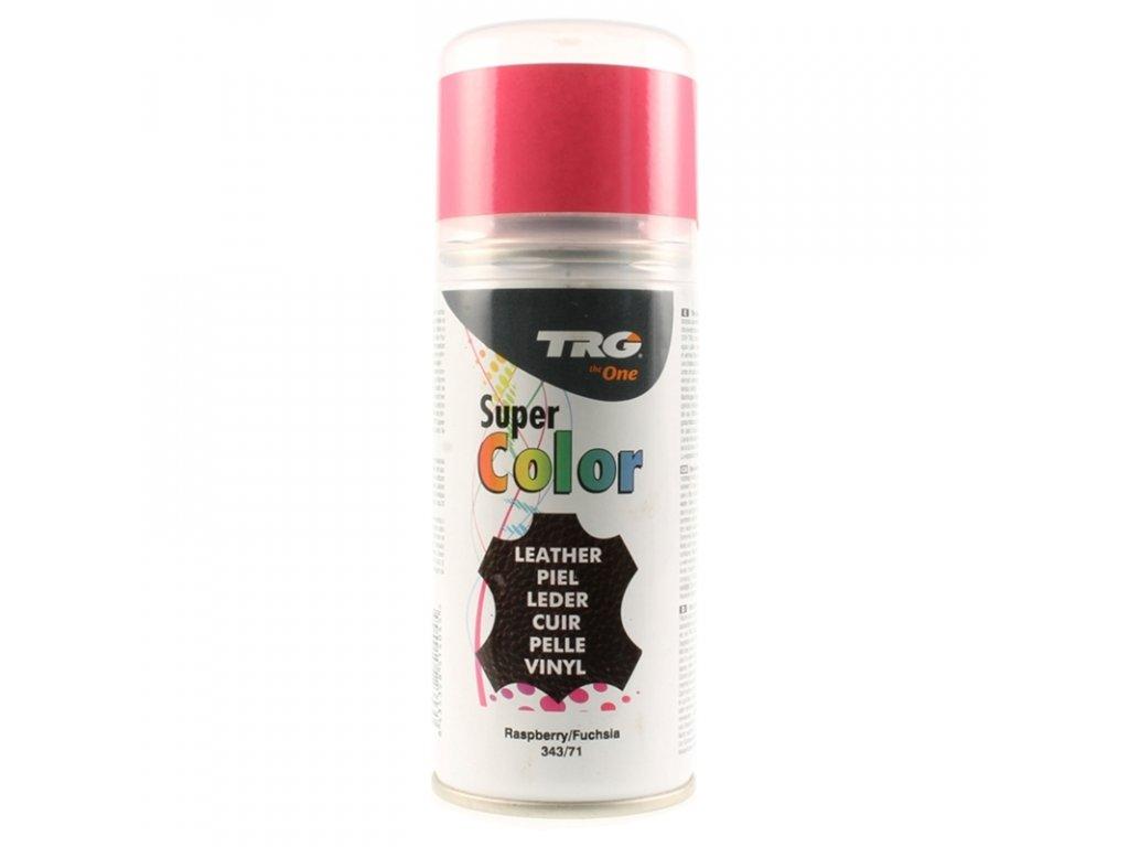 Růžová Barva na kůži ve spreji Super Color TRG Raspberry 343 ruzovy sprej na boty barva ve spreji