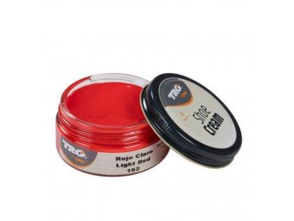 Červený Krém na boty Shoe Cream TRG Light Red 162
