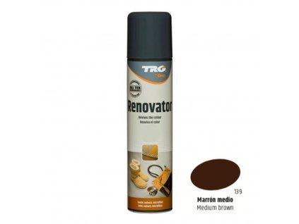 Hnědý Sprej na semiš Suede Renovator TRG Medium Brown 139 hnedy sprej na semis