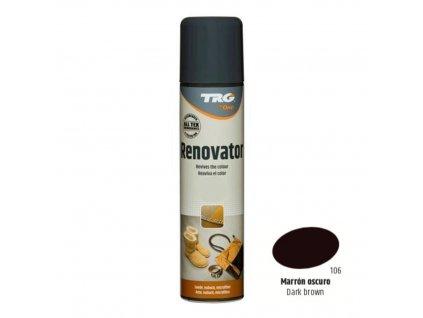 Tmavě Hnědý Sprej na semiš Suede Renovator TRG Dark Brown 106 tmave hnedy sprej na semis