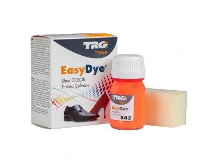 Oranžová Barva na kůži Easy Dye TRG Neon 802 neonova barva na boty