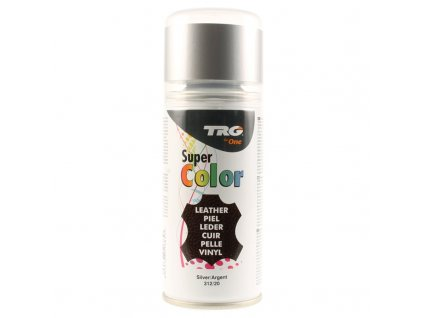 Stříbrná Barva na kůži ve spreji Super Color TRG Silver 312 stribrna barva ve spreji na boty