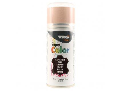 Růžová Barva na kůži ve spreji Super Color TRG Shell Pink 344 ruzovy sprej na boty barva ve spreji