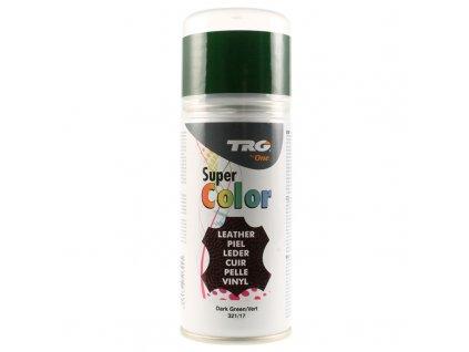 Zelená Barva na kůži ve spreji Super Color TRG Dark Green 321 zeleny sprej na boty