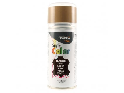 Hnědá Barva na kůži ve spreji Super Color TRG Sand 348 hnedy sprej na boty