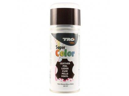 Hnědá Barva na kůži ve spreji Super Color TRG Dark Brown 301 tmave hnedy sprej na boty