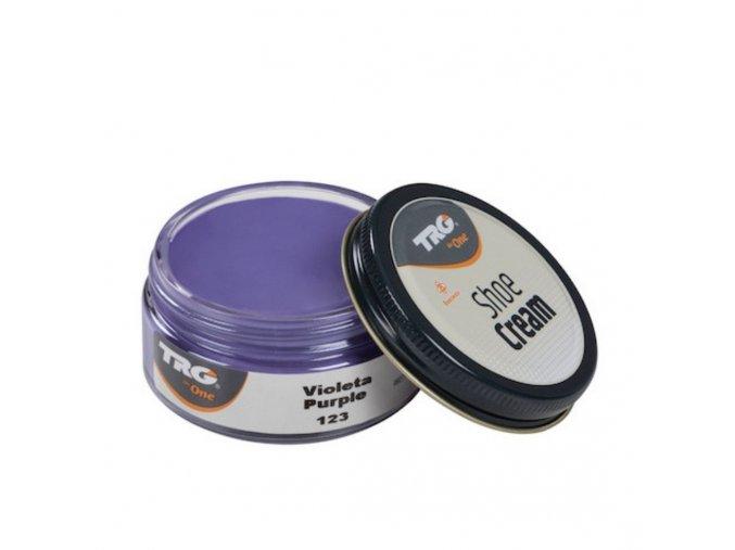 Fialový Krém na boty Shoe Cream TRG Purple 123