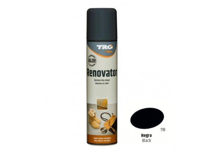Černý Sprej na semiš Suede Renovator TRG Black 118 cerny sprej na semis