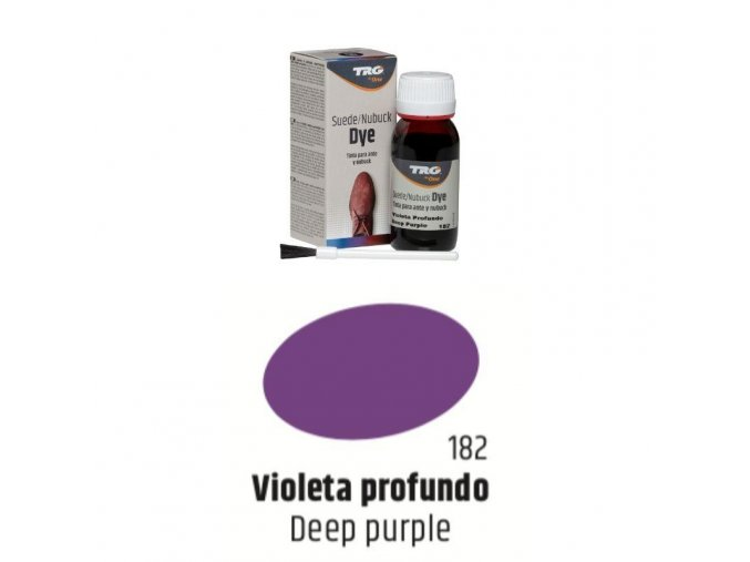 Fialová Barva na semiš Suede:Nubuck Dye TRG Deep Purple 182 fialova barva na semis trg the one