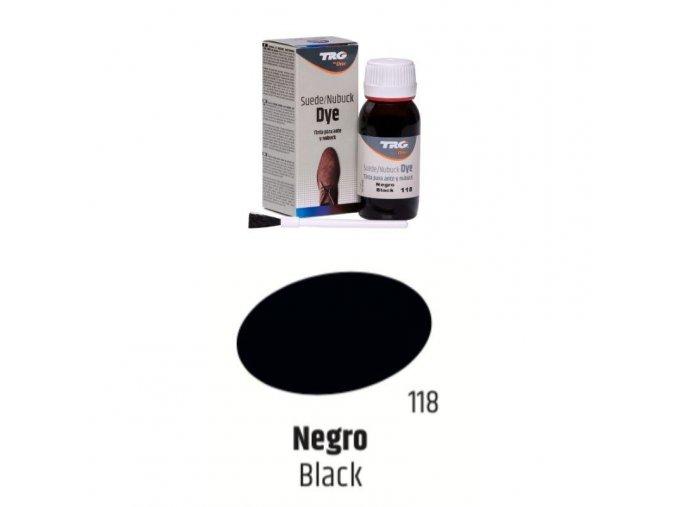 Černá Barva na semiš Suede:Nubuck Dye TRG Black 116 cerna barva na semis