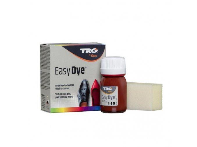 Červeno hnědá Barva na kůži Easy Dye TRG Russet 110 barva na boty obuv cervenohneda