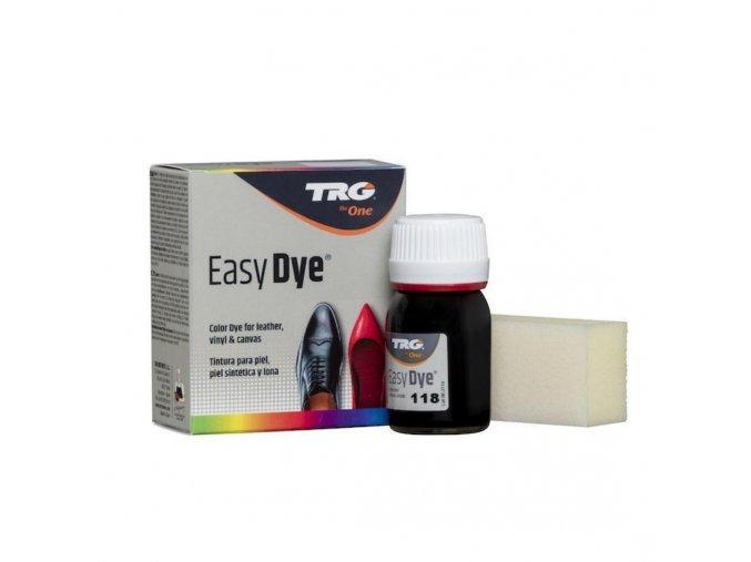 Černá Barva na kůži Easy Dye TRG Black 118 cerna obuvnicka barva na boty cerna barva na kozene boty obuv nabarvit boty na cerno
