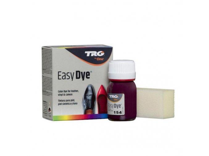 Fialová Barva na kůži Easy Dye TRG Aubergine 154 obuvnicka fialova barva na kozene povrch kozenku platno