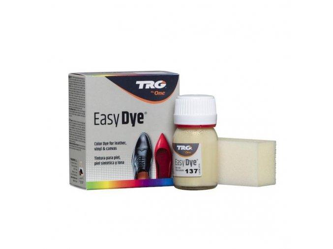 Béžová Barva na kůži Easy Dye TRG Cream 137 kremova barva na boty obuv kozene boty barveni bot na kremovo