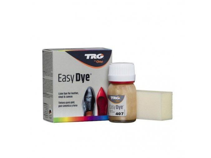 Zlatá Barva na kůži Easy Dye TRG Brilliant Gold 407 leskla trpytiva zlata barva na boty