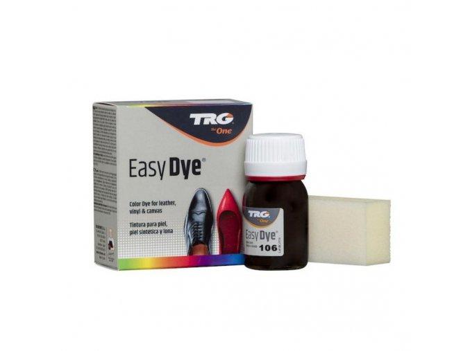 Hnědá Barva na kůži Easy Dye TRG Dark Brown 106 velmi tmava hneda barva na boty