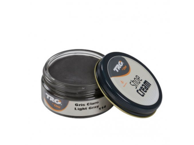 Šedý Krém na boty Shoe Cream TRG Light Gray 114