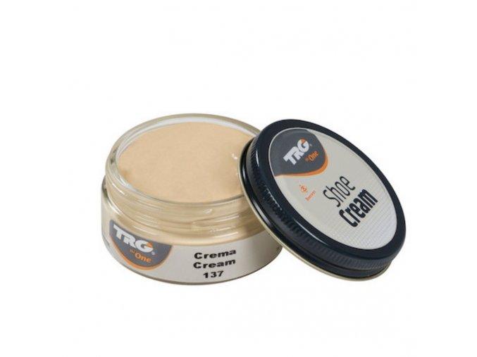 Béžový Krém na boty Shoe Cream TRG Cream 137