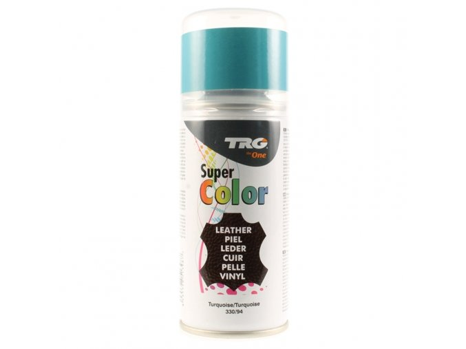 Modrá Barva na kůži ve spreji Super Color TRG Turqoise 330 tyrkysovy sprej na boty tyrkysova barva