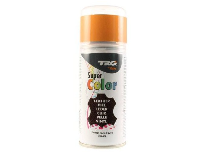 Zlatá Barva na kůži ve spreji Super Color TRG Golden Tone 359 zlaty sprej na boty