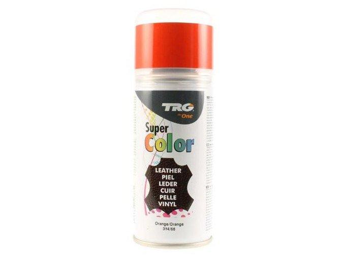 Oranžová Barva na kůži ve spreji Super Color TRG Orange 314 oranzovy sprej na boty barvici