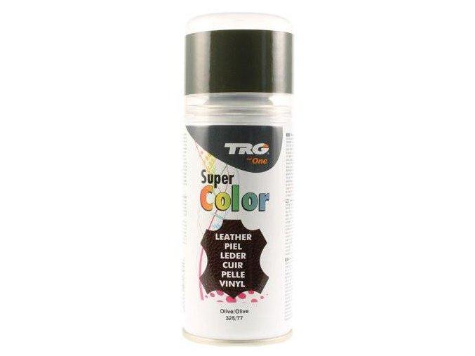 Zelená Barva na kůži ve spreji Super Color TRG Olive 325 olivova barva na boty