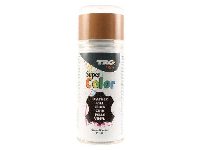 Hnědá Barva na kůži ve spreji Super Color TRG Camel 311 hnedy sprej na boty barveni bot na hnedo