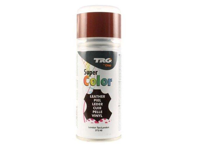 Hnědá Barva na kůži ve spreji Super Color TRG London Tan 373 barva na boty