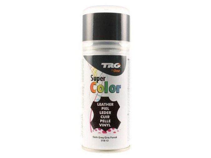 Šedá Barva na kůži ve spreji Super Color TRG Dark Gray 318 tmave sedy barvici sprej na boty