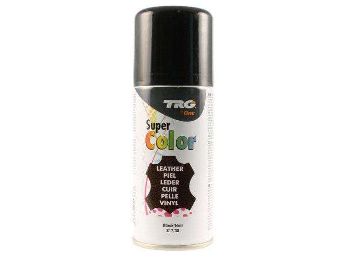 Černá Barva na kůži ve spreji Super Color TRG Black 317 cerny sprej na boty barvici renovace oprava barveni bot na cerno sprejovani bot