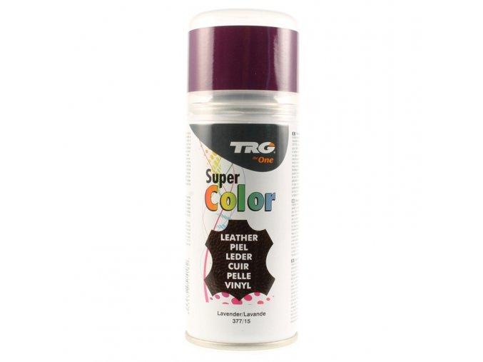 Fialová Barva na kůži ve spreji Super Color TRG Lavender 377 fialovy sprej na boty barveni bot nafialovo