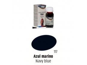 Tmavě Modrá Barva na semiš Suede:Nubuck Dye TRG Navy Blue 117 tmave modra barva na semis