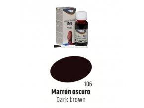 Hnědá Barva na semiš Suede:Nubuck Dye TRG Dark Brown 106 hneda barva na semis