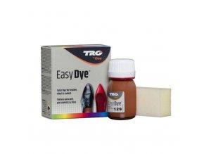 Hnědá Barva na kůži Easy Dye TRG Light Brown 129 hneda barva na boty obuv barveni bot na hnedo