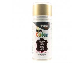 Zlatá Barva na kůži ve spreji Super Color TRG Pale Gold 333 zlaty sprej na boty barveni bot na zlato
