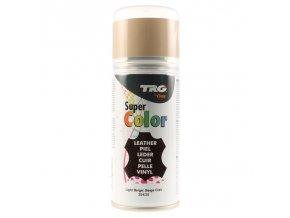 Béžová Barva na kůži ve spreji Super Color TRG Light Beige 359 bezovy sprej na boty